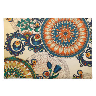 Colorful Bohemian Boho MOD Hippy Chic Pattern Placemat