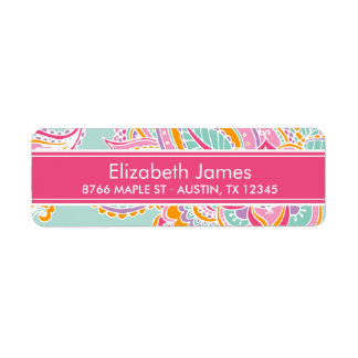 Colorful Bohemian Paisley Return Address Label