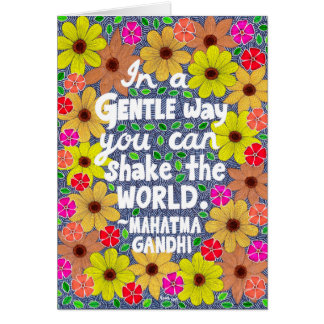Colorful Bohemian Typography Quote Doodle Card