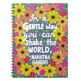 Colorful Bohemian Typography Quote Doodle Spiral Note Book