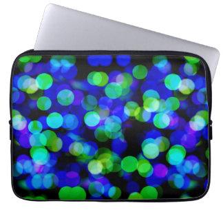 Colorful bokeh lights computer sleeves