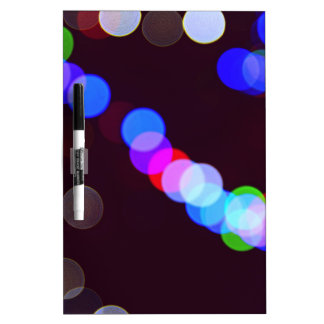 Colorful bokeh lights dry erase board