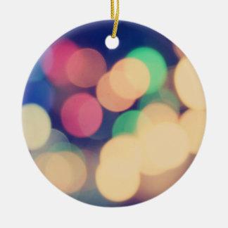 Colorful bokeh lights illustration ornaments