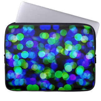 Colorful bokeh lights laptop sleeve