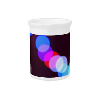 Colorful bokeh lights pitcher