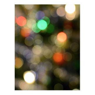 Colorful bokeh lights postcard
