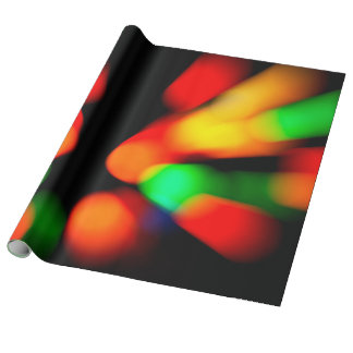 Colorful bokeh lights wrapping paper