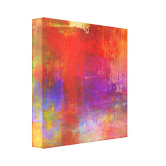 Colorful Bold Abstract Painting Canvas Print