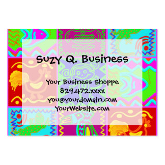 Colorful Bold Funky Animals Patchwork Pattern Pack Of Chubby Business Cards