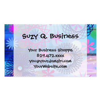 Colorful Bold Stars and Light Rays Funky Design Pack Of Standard Business Cards