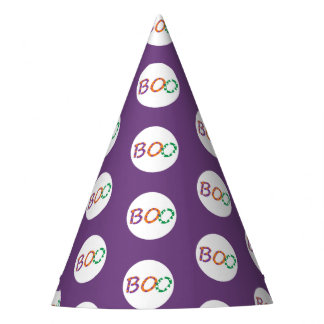 Colorful Boo for Halloween Party Hat