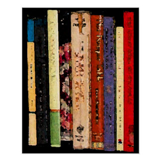 Colorful Books Poster