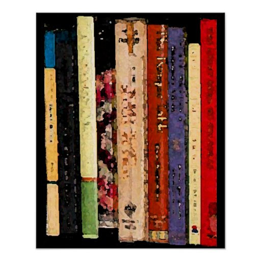 Colorful Books Posters