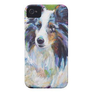 Colorful BORDER COLLIE iPhone 4 Case-Mate Cases