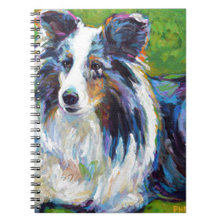 Colorful BORDER COLLIE Notebooks