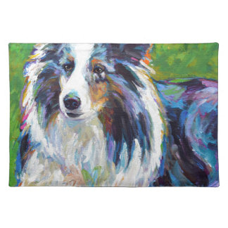Colorful BORDER COLLIE Placemat