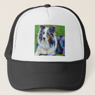 Colorful BORDER COLLIE Trucker Hat