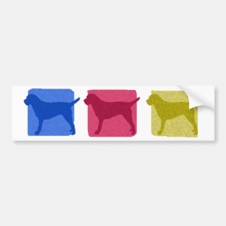 Colorful Border Terrier Silhouettes Bumper Sticker