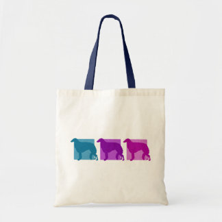 Colorful Borzoi Silhouettes Tote Bag