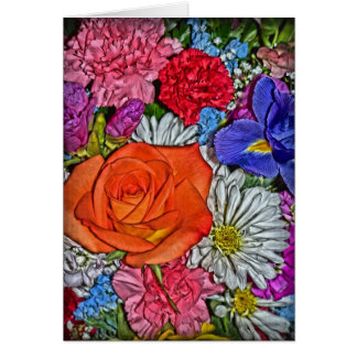 Colorful Bouquet of Flowers Card