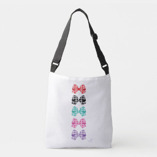 Colorful Bows White Dots - Cool Crossbody Bag