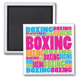 Colorful Boxing Fridge Magnet