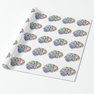 Colorful Brains Wrapping Paper