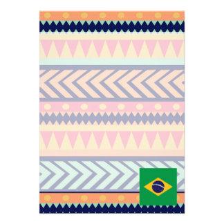 Colorful Brazil Flag Box 13 Cm X 18 Cm Invitation Card