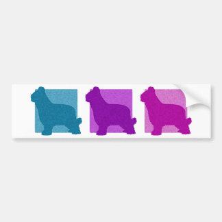 Colorful Briard Silhouettes Bumper Sticker