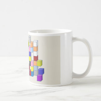 Colorful bricks basic white mug