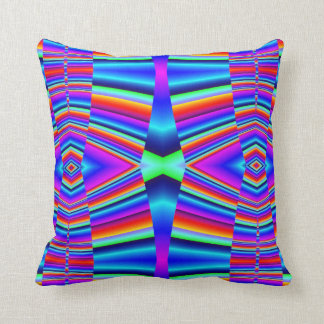 Colorful bright abstract pattern throw pillow