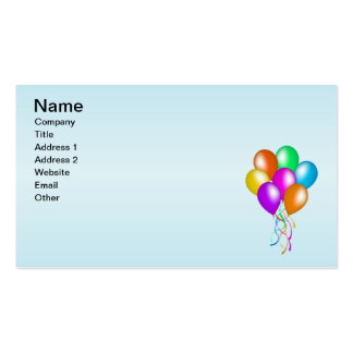 Colorful Bright Bunch of Balloons Business Card Template