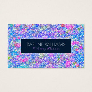 Colorful Bright Colors Glitter Pattern Business Card