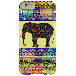 (colorful bright elephant aztec) barely there iPhone 6 plus case