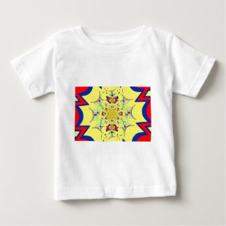 Colorful Bright floral damask design Baby T-Shirt