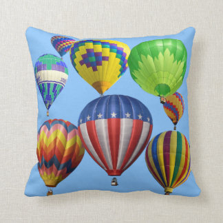 Colorful Bright Hot Air Balloons Single Sided Cushion