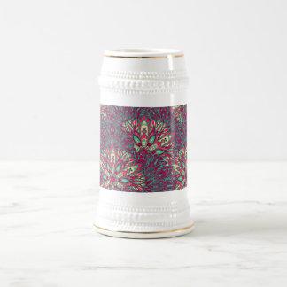 Colorful bright mandala pattern. beer stein