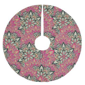 Colorful bright mandala pattern. brushed polyester tree skirt