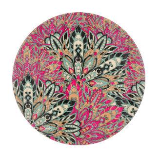 Colorful bright mandala pattern. cutting board