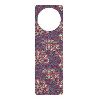 Colorful bright mandala pattern. door knob hangers