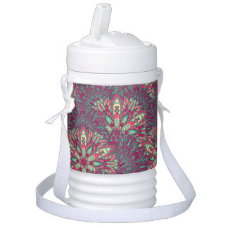 Colorful bright mandala pattern. drinks cooler