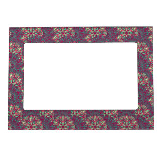 Colorful bright mandala pattern. magnetic picture frame