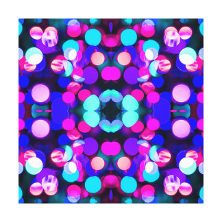 Colorful Bright Multicolor Bokeh Christmas Lights Gallery Wrapped Canvas