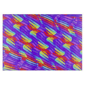 Colorful Bright Purple Wave Twists Artwork Cutting Board