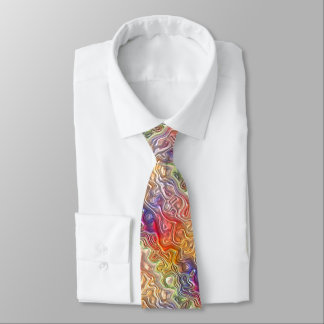 Colorful Bright Stylish Abstract Swirl Pattern Tie