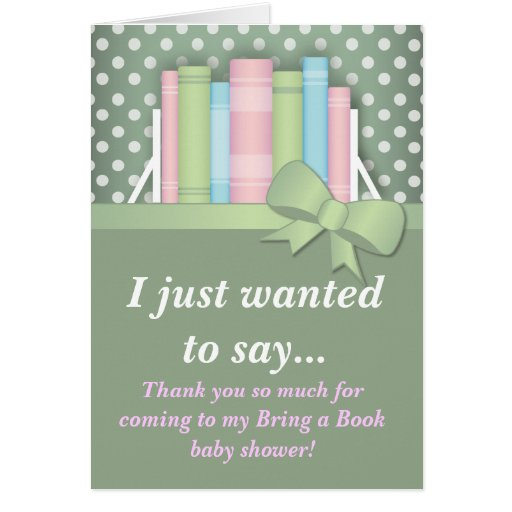 colourful bring a book baby shower thank you card zazzle