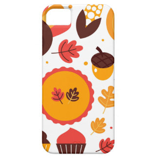 Colorful brown autumn bird with elements iPhone 5 cases