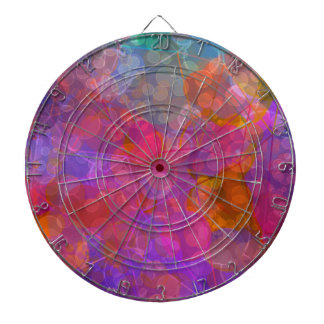 Colorful Bubble Pattern Design Dartboard