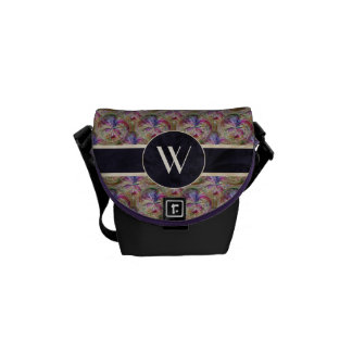 Colorful Bubble Pattern Monogrammed Courier Bag