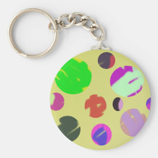 colorful bubble universe abstract art key chains